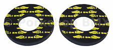 GT race wings old school BMX bicycle grip foam donuts YELLOW on BLACK (LICENSED)