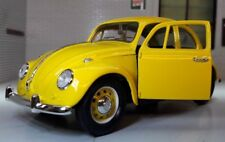 VW 1500 Beetle 1967 Car Bright Yellow 1:24 Scale Diecast Detailed Model 110295