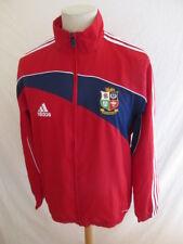 Rare veste de rugby vintage tournée Lions Afrique du Sud 2009 Adidas Rouge Taill
