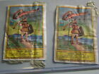 2 VINTAGE WARRIOR BRAND FIRE CRACKER LABELS GREAT COLORS BY KWONGYUEN