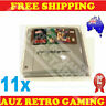 11x Thick GAME CART CARTRIDGE PROTECTORS Cases For SNES Super Nintendo Games