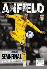 Liverpool V Chelsea capital una taza Semi Final Primera Manga 2014/15 programa 2015
