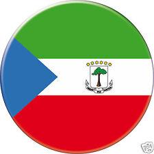 5 x sticker 5cm auto moto velo valise pc portable drapeau Rond Guinée équatorial