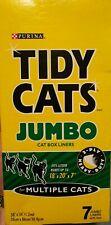 """7 Purina Tidy Cats Jumbo Cat Litter Box Liners 18"""" x 20"""" x 7"""" - 3-Ply Heavy Duty"""