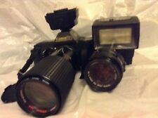 canon T70 with flash and lens