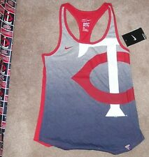 NEW NIKE MLB Minnesota Twins Tank Top Shirt Women Ladies M Medium NEW NWT