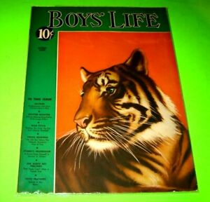 Boys' Life magazine - April 1939 - Tiger cover - Wild Pitch story NICE