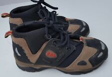 New Gap Leather Boys High top Boots Shoes Youth Toddler Lace Brown Black 4