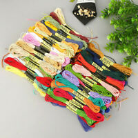50PCS MultiColor DIY Cotton Cross Floss Stitch Thread Embroidery Sewing Skeins