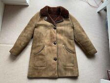 """Men's Light Brown Sheepskin Jacket Coat Size S/M 36"""" 38"""" EXCELLENT CONDITION"""