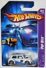 Hot Wheels 2007 #37 Morris Mini white Pop Offs #1 of 4 MOC VHTF 10 spoke Wheels