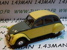 Voiture 1/43 norev citroën : 2 CV n°132 DOLLY grise & jaune