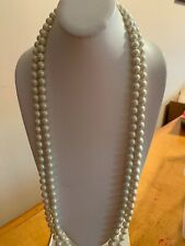 """$60 Carolee   Pearl Necklace Long 68""""  S153"""