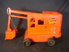 Pressed Steel Marx Lumar Contractors Steam Shovel Toy Construction Orange