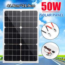 50W 18V  Flexible Folding Solar Panel Battery Charger Camping Caravan Boat RV