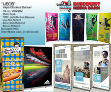 "Inkjet Premium Blockout Banner- 60""x100' - 10mil - Water Based, Latex, UV"