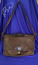 Vintage COACH Brown Leather Briefcase Bag #0350-0201 Made in USA.