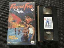 FIRE WITH FIRE (1986) CIC BIG BOX ORIGINAL VHS VIDEO, CRAIG SHEFFER.