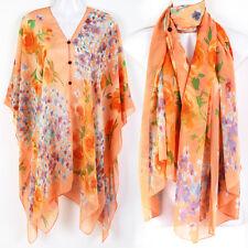 Tunic Kaftan Scarf Blouse Dress Wing Beach Cover Up Swimwear Rose Robe ts19o