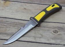9 INCH SCUBA DIVE KNIFE WITH NYLON FIBER SHEATH AND RUBBER LEG STRAPS