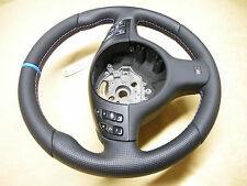 Bmw OEM E46 M3 E38 E39 M5 7 3 5 E53 X5 thick soft steering wheel M modern logo