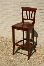 JENIUS BAR STOOLS 5 AVAILABLE SOLID MAHOGANY  *NEW *