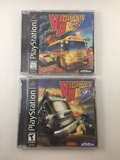 Vigilante 8 + Vigilante 8 2nd Offense Black Label Complete In Box CIB PS1 Tested