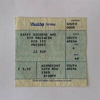 ZZ Top - Wembley Arena November 30 1983 concert ticket stub
