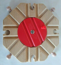 Wooden Train Track Turntable 8-Way Switch Track By Battat