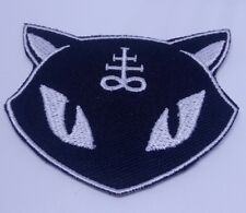Devil  Cat Evil Feline Pussy Patch - Iron On Badge Embroidered USA Seller