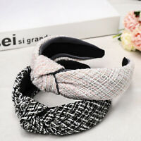 Beautiful Ladies Houndstooth Knotted Headband Hair Bands Hair Hoops Accessory