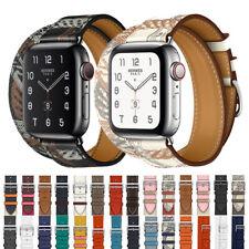 Leather Single Tour/Double Tour Strap Band Bracelet For Apple Watch Series 5/4/3