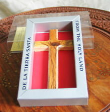 Cruz de Madera 13 CM 5 Inch Olive Wood Wall Cross Bethlehem in Gift Box New