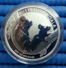 2011 Australia $1 Koala 1 oz 999 Fine Silver Coin
