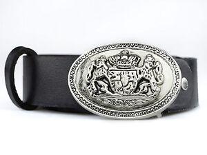 Trachtengürtel mit bayerischem Wappen, Unisex Gürtel BW 90 - 120cm