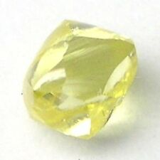 0.25+ Carats FANCY YELLOW DODECAHEDRON Rough Diamonds