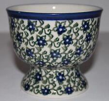 "Polish Ceramika Artystyczna Dessert Cup Bowl Footed Mug Unikat Stoneware 3 1/4"""