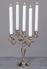 chandeliers 26cm Argent 5 ampoules / BRANCHES NICKEL ANTIQUE BAROQUE NEUF