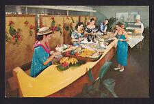 c1959 Nani Li''i Buffet on Outrigger Canoe Kona Inn Big Island Hawaii postcard