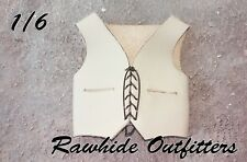 1/6 Genuine White & Black Leather Vest