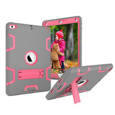 Kids ShockProof Rubber With Hard Stand Case Cover For New iPad 2017 5th Gen 9.7""