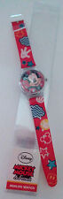 DISNEY MICKEY MOUSE & FRIEND RED PLASTIC ANALOG WATCH
