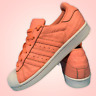 Adidas Superstar Womens Shoes Size Uk 3.5 Peach Orange Casual Trainers EUR 36
