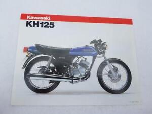 KAWASAKI KH125-A4 Motorcycle Sales Leaflet c1981 #99943-1198 X-VII
