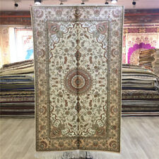 YILONG 3'x5' Handmade Silk Floral Rug Traditional Home Indoor Carpet L044C