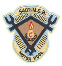 Army Patch:   Motor Pool, 540th Maintenance Support Battalion