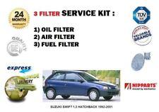 FOR SUZUKI SWIFT 1.3 HATCHBACK 1992-2001 NEW OIL AIR FUEL FILTER SERVICE KIT