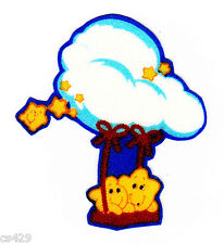 """2"""" Care bears stars on a cloud fabric applique iron on character"""