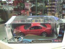 2003 Ford SVT Mustang Cobra ( red ) Fastback 1:18 Scale Die Cast by Maisto