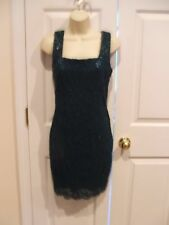 New in pkg  dark teal lace party prom cocktail dress  7/8